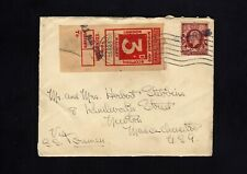 1935 3d Railway Parcel Stamp on Cover to Usa