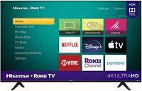 50 Inch Hisense Roku 4K UHD Smart TV 50R6090G