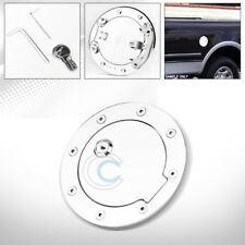 CHROME ALUMINUM FUEL GAS DOOR COVER CAP LOCK 1999-2010 FORD F250/F350 SUPERDUTY