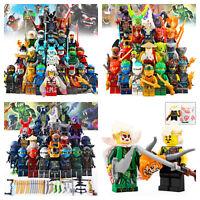 24pcs Ninjago Minifigure with Weapon Lloyd Gamadon Kai for Lego Ninja Figure
