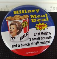 Donald Trump Hillary Clinton Meal Deal 2016  Button Collectible