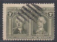 "Canada Scott #100 7 cent Montcalm & Wolfe ""Quebec Tercentenary""  F"