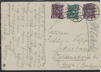 DR Mi Nr. 207, 224, 226 MiF Fernpost Karte, Darmstadt - Woltersdorf 1923