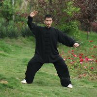 Tai chi Uniform Kung fu Suit Martial arts Wing Chun Clothes Soft Cotton 5 Colors