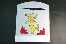 Box of 150 Lightweight Children's Disposable White Bibs with Animal Themes