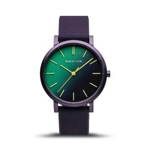 Bering Time True Aurora Purple Aluminum Case & Grün Dial Womens Watch. 16934-999
