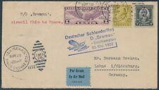 Katapultflug Dampfer Bremen 25.5.1932 USA Post nach Lohne Oldenburg (S18525)