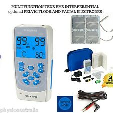 ULTRA 9000 multifunction tens machine, interferential,pelvic,facial unit
