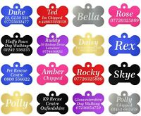 Quality Engraved Dog Tag, Pet ID Tags, Personalised Engraving, Dog Collar, Bone