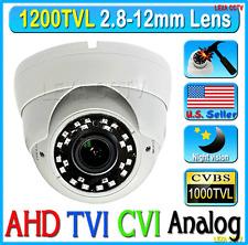 "1200TVL 1/3"" 720P, 1.3 MP 2.8-12mm NEW IRs Vandal Proof DOME CCTV CAMERA"