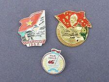 3 VIETNAM WAR BADGES 1968 TET / HCM CAMPAIGN ETC