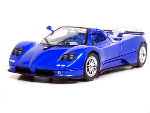 PAGANI ZONDA C12  BLUE 1:18 SCALE DIECAST MODEL CAR BY MOTORMAX 73147