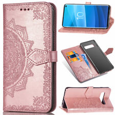 Embossed Stand Wallet Card Leather Flip Case Cover For Samsung S8 S9 S10 A41 A91