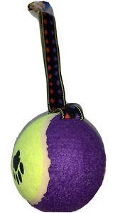 Robust Giant Tennis Ball Tug Throw Fetch Tug Dog Toy With Strap Handle