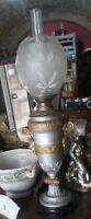 lume a petrolio in  vetro e metallo AUSTRIA metà XIX° secolo h Cm. 71