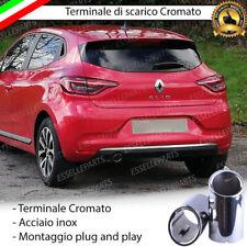 TERMINALE SCARICO CROMATO LUCIDO ACCAIO INOX RENAULT CLIO 5 SCARICO TONDO