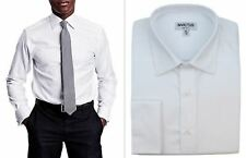 Mens Formal Shirt Invictus Regular Fit Easy Iron Cotton Double French Cuff