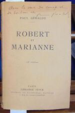 Géraldy Robert et Marianne (avec un envoi de Géraldy)...
