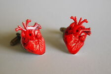 Anatomical Human Heart Cufflinks - Anatomy Medical Steampunk Human Doctor Nurse
