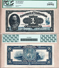 1920 $1 Government of Newfoundland KGV Admiral Portrait Note PCGS CH VF25 NF-12b