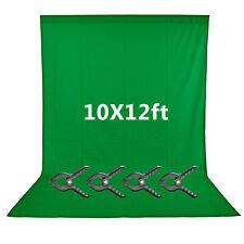 Neewer 10x12 feet/3x3.6 meters Green Chromakey Fiber Backdrop Background Screen