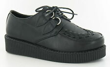 Ladies Black PU Lace up Platform Creeper Style Shoes - Spot on F9588 UK 5