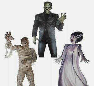Universal Monsters Vinyl Window Clings Frankenstein Mummy Bride Halloween Gemmy