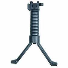 Tactical Picatinny Foldable Foregrip Bipod with Insert Legs with 20mm Side Rail