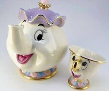 Cartoon Beauty And The Beast Teapot Mug Mrs Potts Chip Tea Pot Cup Set Gift
