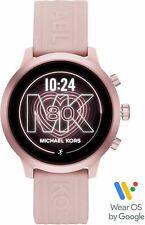 NEW! MICHAEL KORS ACCESS MKGO Pink Aluminum Pink Silicone Touchscreen Smartwatch