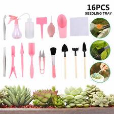 16 Pcs Succulent Plants Tools Mini Garden Hand Tools Set Fairy Garden Tools Kit