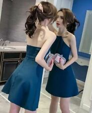 Choker Dress Plain (JLH) Blue Green Freesize