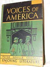 Voices of America Enjoying Literature textbook,1936 Rand Mcnally & COMPANY