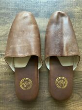 L.B Evans 1804 Leather Slippers Brown 9M Soft Sole Leather Slip On
