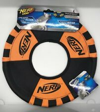 11 inch Nerf Dog Trackshot Flyer Ring Disc Orange and Black Dog Toy