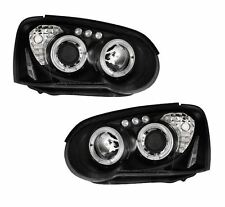 SUBARU IMPREZA  2003-2005 BLACK ANGEL EYES HEADLIGHTS PAIR