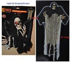 "Black & White Hanging Skeleton Halloween Decoration 36"" Light-Up Party Prop NEW"