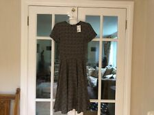 H&M Black & Beige Polka-Dot Tea Dress UK8 BNWT