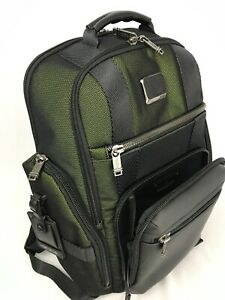 Tumi Alpha Bravo Shepard Deluxe Laptop Backpack Reflective Tundra Green 232389RT