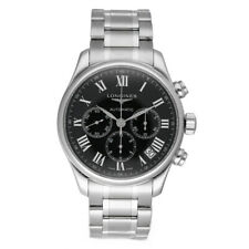 Longines L2.859.4.51.6 Chronograph Black Dial 44mm Stainless Steel Men's Watch