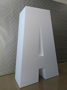 Large 3D Polystyrene Letters / Numbers For Events - 750mm high X 200mm thick