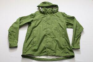 EUC M Marmot PreCip WP Hood Zip Packable Rain Wind Jacket Citrus Ice Green Women
