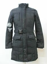 WOOLRICH Blizzard Men's Black Cotton Blend Insulated Belted Parka Coat Size S