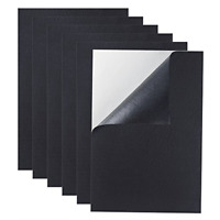 6 Pcs Black Back Felt Sheets Fabric Sticky Self-Adhesive Durable Water Resistant