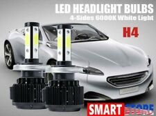 2xH4 9003 HB2 4-Sided LED Headlight Bulbs Kit High Lo Beam White 6000K Canbus US