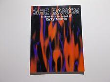 * She Bangs-Ricky Martin Songbook- New
