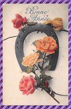 Carte Postale Fantaisie - Fer a cheval et fleur