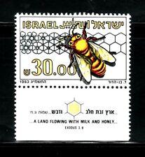 SELLOS ISRAEL 1983 INSECTOS ABEJA  863 1v.
