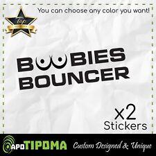BOOBIES BOUNCER jeep car truck window vinyl sticker decal mud 4 wheeler 4X4 fun