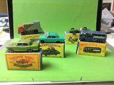 Matchbox RW Konvolut Nr. 7,19,56,58,75, Fiat, Lotus,Bus,Austin in Box